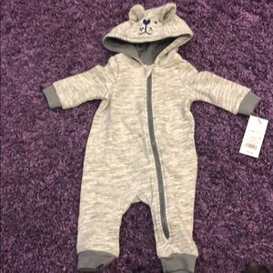 Cat & Jack One Pieces - Baby Cat and Jack Grey Heather Romper NWT Sz 0-3M